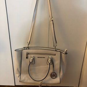 Michael Kors White Purse with Crossbody Strap